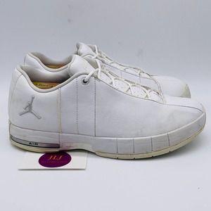 Jordan Team Elite TE 2 Low White Silver Shoes 10